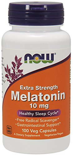 NOW Supplements, Melatonin, Extra Strength 10 mg, 100 Veg Capsules