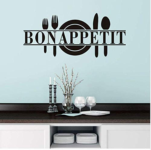 Wandaufkleber Aufkleber Wandbild Mädchen Junge Vinyl für Zuhause Art Deco Geschirr Restaurant 25x60cm