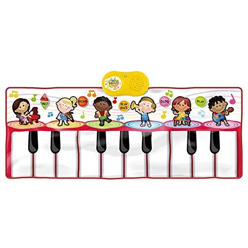 GH-YS Gigantische musikalische elektronische Tastatur Klavierspielmatte, Klaviermatte, bestes Tastaturklaviergeschenk für Jungen & Mädchen, D.