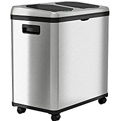 Best Dual Compartment Trash Can with Wheels