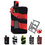 Smok Fetch Pro 80W Silicone Case Protective Rubber Sleeve Skin Shield Wrap (Black-Red)