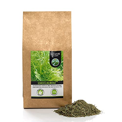 Té de cola de caballo (250g), hierba de cola de caballo cortada, suavemente seca, 100% pura y natural para la preparación de té, té de hierbas