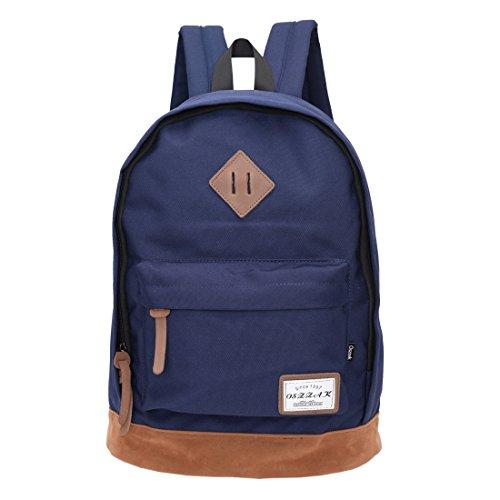 Rucksack Schulrucksack Jugendliche Backpack Rucksäcke mit Laptopfach für Camping Outdoor Sport (Marine)