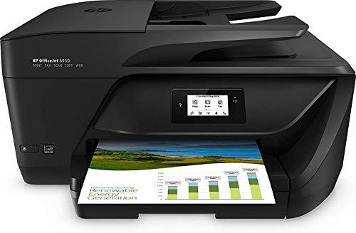 HP OfficeJet Pro 6950 - Impresora Multifunción (Tinta Color, Fax, Copiar, Escanear, Impresión a Doble Cara, 4800 x 1200 PPP, Incluido 2 Meses de HP Instant Ink) Color Negro (Reacondicionado)