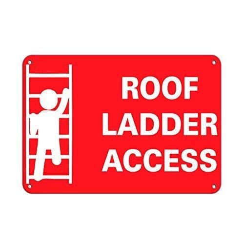 mengliangpu8190 Dak Ladder Toegang Business Teken Dak Toegang Tekens Aluminium Metalen Teken 12