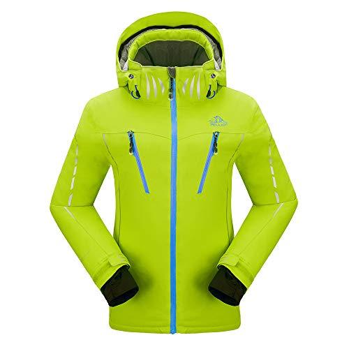 PELLIOT Damen Ski Jacke Winddichte Verdickte Snowboard Breathable Skijacke, Gr.-XXL,  Leuchtendes Grün