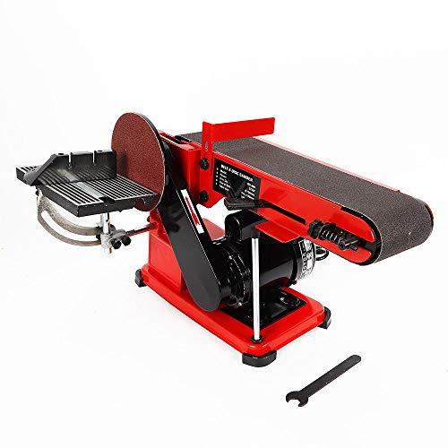 Electric 375W Bench Belt and Disc Sander Adjustable Grinder Sanding...