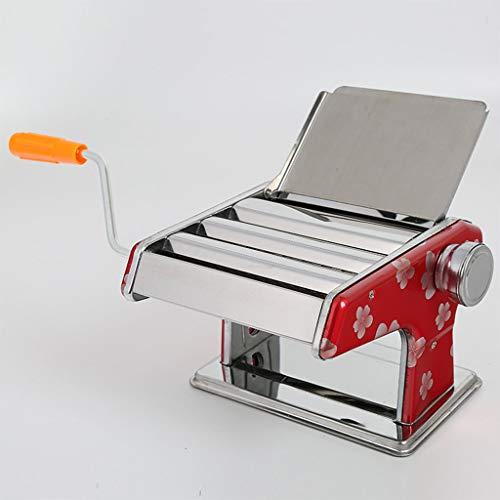 ZWB Nudelmaschine Manuell Manuelle Nudel-Press-Maschine, Pasta-Hersteller-Maschine Kleine Multi-Funktions-Edelstahl-Hausgemachte Pasta Roller Cutter Dumpling Wonton Dough Pressmaschine Haushalt