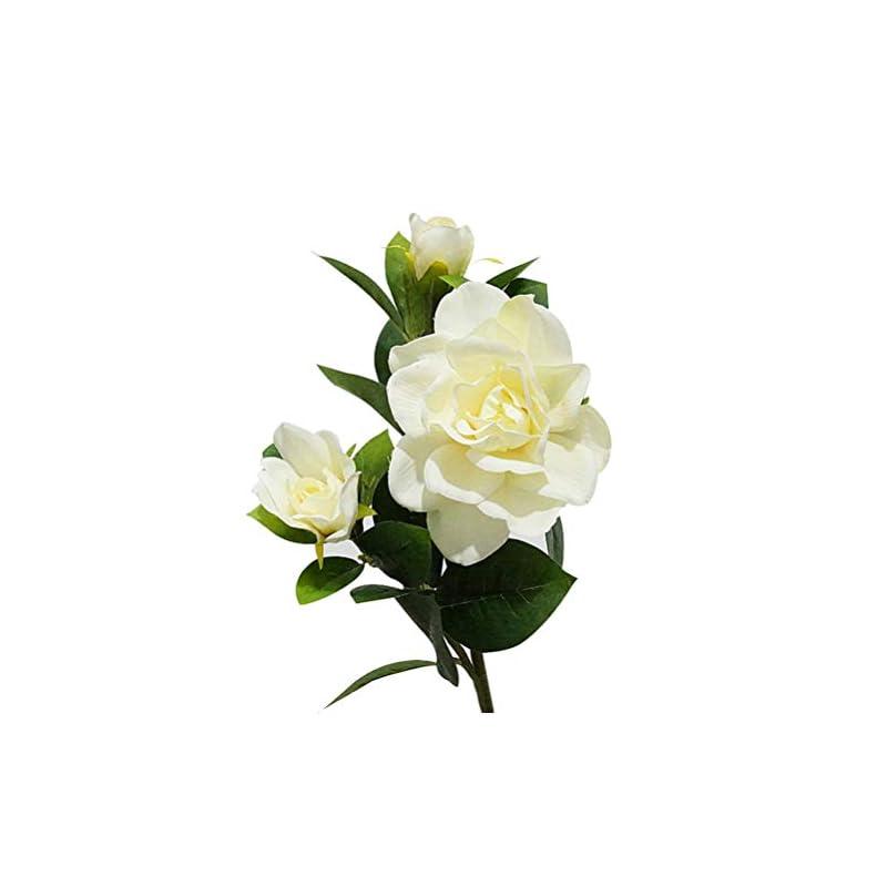 silk flower arrangements giveyoulucky wedding party bouquet 1pc 3 heads fashion artificial gardenia flower home decor milk white