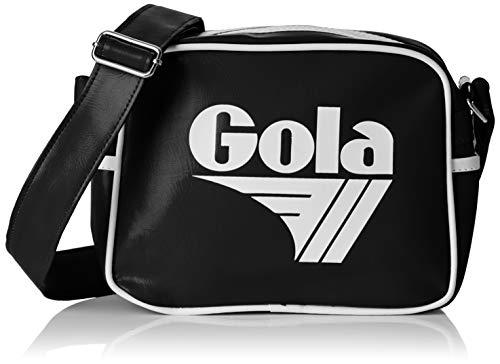 Gola Micro Redford - Borse Messenger Unisex Adulto, Nero (Black/White)