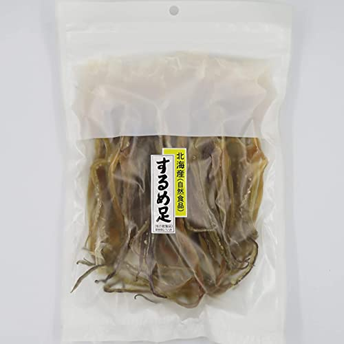 するめ足 無添加 素干し150g スルメイカ げそ 国内加工 チャック付き袋 おつまみ 珍味