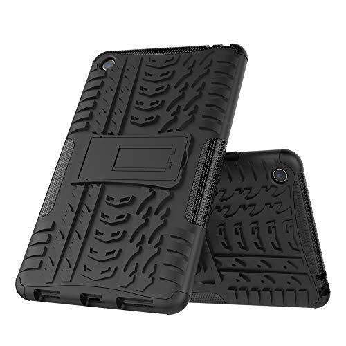 DAYNEW Funda para Xiaomi Mi Pad 4, resistencia a caídas de carcasa de stent de teléfono, cubierta protectora perfil de neumático resistencia a caídas de 360 degree arm, para Xiaomi Mi Pad 4-Black