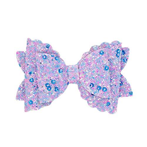 Pince à cheveux noeud pour enfants papillon (violet clair)