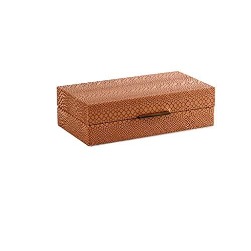 EPOU Joyero Caja de joyería de Cuero Simple Moderna, Caja de Almacenamiento de joyería para el hogar para Pendientes de Pernos Anillos Collares Pulseras contenedor Organizador jewlwey