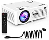 4500 Lumens Mini Projector (Upgraded Version) LED Portable Projector, Video Projector with 170'' Display and 1080P Support, Compatible with TV Stick, PS4, HDMI, VGA, TF, AV and USB