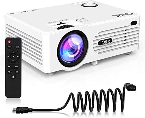 4500 Lumens Mini Projector (Upgraded Version) LED Portable Projector, Video Projector with 170