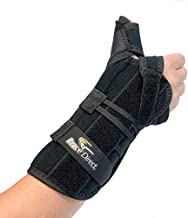 Brace Direct Universal Thumb Stabilizer Splint, Spica and Medical Wrist Brace - Arthritis, Tendonitis, Gamekeepers, De Quervain's Tenosynovitis