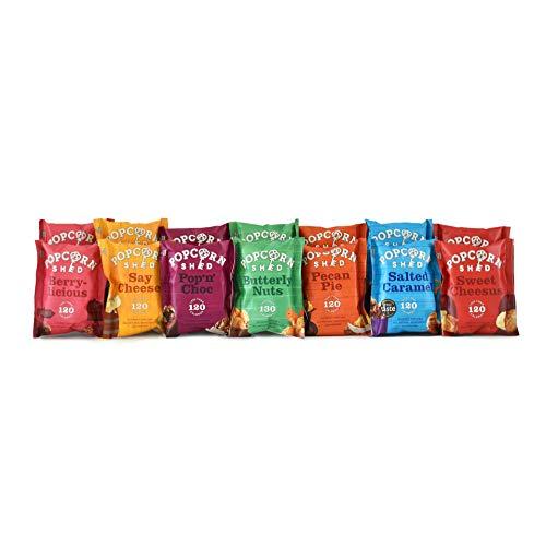 Confezione da 14 pezzi | Include 7 gusti di Popcorn diversi | Snack 100% naturali, senza glutine e vegetariani