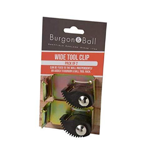 Burgon & Ball Garden Porte-Outils Universel Clip à Outil Large Lot de 2