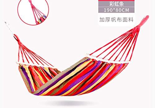 ZXL iuihuah Lazy Outdoor Hangmat Swing Familie Plafond Stoel Binnen Craddle Stoel Dubbele Kind 190 x 150 CM Rood A 190 x 80CM Rood