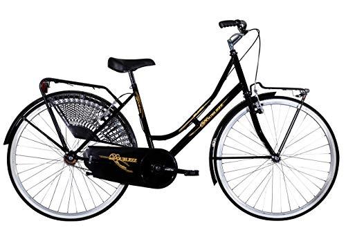 Zanoni Bicicletta 26' Donna Doublezz Olanda Acciaio Bici Holland Line con Portapacchi e luci a LED