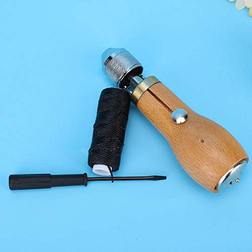 DAUERHAFT Kit de Costura Manual, 120 mm de Longitud, con punzón de Bloqueo y Dos Agujas, Herramienta de Coser(Upgraded Hand Sewing Device)