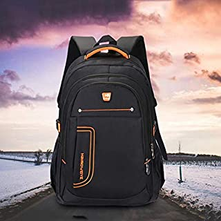 Asdfnfa Men's Business Backpack Student Bag Shoulder Casual Computer Bag Large Capacity Travel Bag (Color : Brown)