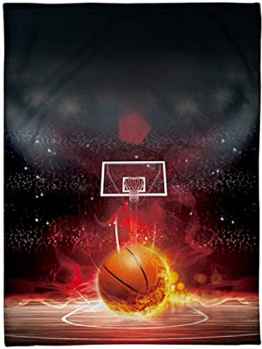 Fleece Blanket Basketball Funny Passion 60X80 Inch Bed Throw Tapestry Blanket Gift for Mothers Day, Fathers Day, Dad, Mom, Son, Mama, Grandma, Papa N1544