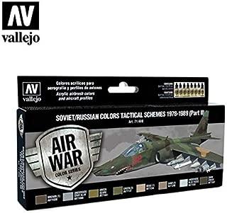 Vallejo 71608 Model Air Soviet/Russian Tactical Schemes 1978-1989 (Part II) (8) Acrylic Paint Set