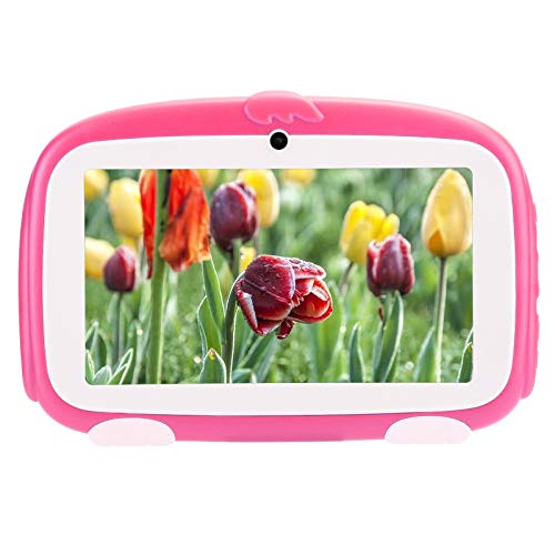 Dpofirs 1GB + 16GB 7 Inch HD Multi-touch Capacitive TFT Screen TP Study Tablet, Multifunctional Tablet for Andriod 9.0 for Kids, Cute Style Tablet PC, Support 3G WIFI Internet(ROSE)