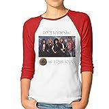 ytuytiutfi Whitesnake Raglan - Camiseta de manga 3/4 para mujer rojo XXL