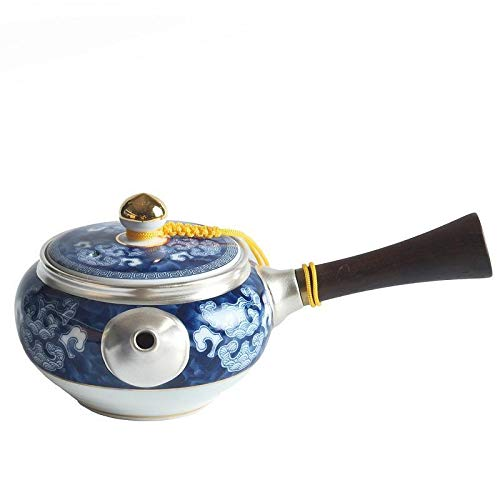 Silver Ceramic Sterling Silver Teapot 999 Sterling Silver Handmade Teapot Household Filter Kungfu Teapot GONG