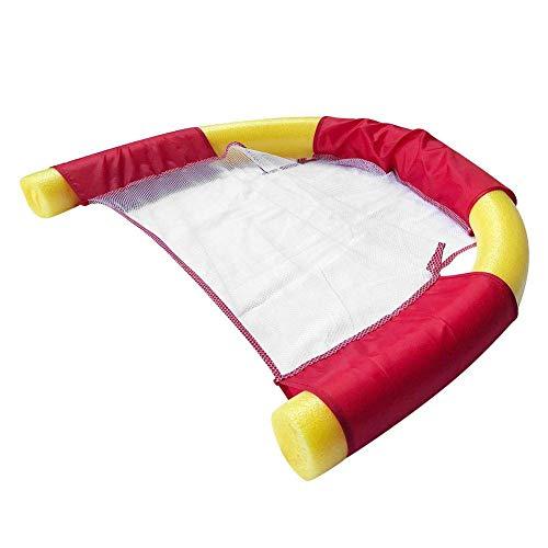 Pool Noodle Silla De Malla Flotante Piscina Flotante Noodle Sling Sillas De Malla - Relajación En El Agua Fiesta En La Piscina Relajación En El Agua Niños Adultos Asiento De Silla De Red Flotante rojo