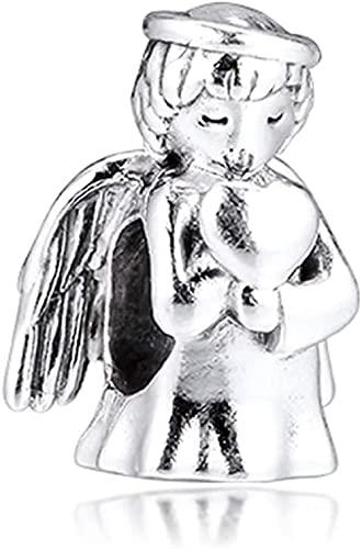 LGUC Pulseras de los Hombres Winter Angel of Love Colgante de Cuentas de Plata 925 DIY se Adapta a la joyería Original de Pandora con Pulseras de dijes