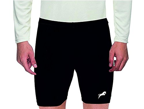 Rider Compression Men's Shorts Tights (Nylon) Skins for Gym, Running, Cycling, Swimming, Basketball, Cricket, Yoga, Football, Tennis, Badminton & Many More Sports (Size L)