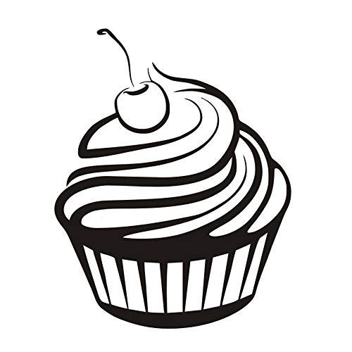 35x44 cm Wandaufkleber Für Wohnzimmer, Geburtstag Hochzeitstorte Kirschcreme Cupcake Küche Vinyl Malerei Abstrakte Dekoration Home Schlafzimmer Decor Tapete