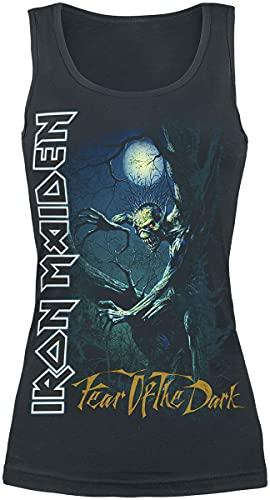 Iron Maiden Fear of The Dark Donna Top Nero S 100% Cotone Regular