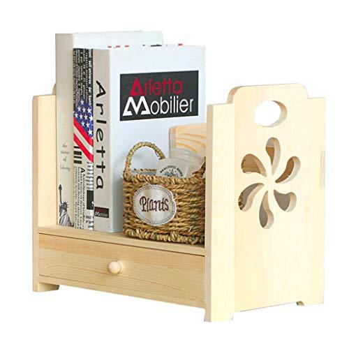 Bibliothèques Petit support de rangement boîte de rangement pour tiroir de bureau en bois massif petite étagère en bois support de rangement pour produits cosmétiques