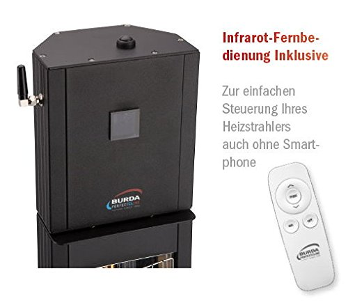 BURDA BTBHST3024-1 Heizstrahler IP24 3,0 kW Bluetooth schw. - 3