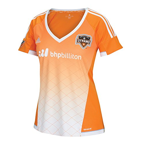 adidas MLS Houston Dynamo Erick Torres #9 Damen Replik Kurzarm Player Trikot Orange Medium