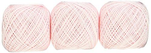 オリムパス製絲 Thred オリムパス製絲 金票 レース糸 #40 Col.101 ピンク 系 10g 約89m 3玉セット