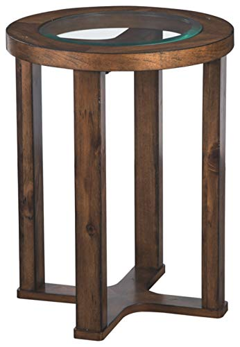 Signature Design by Ashley - Hannery Round End Table, Brown