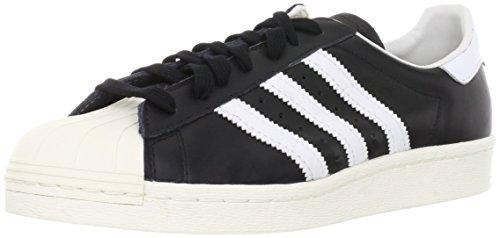 adidas Herren Superstar 80S G61069 Gymnastikschuhe, Schwarz (Black 1/White/Chalk 2), 43 1/3 EU