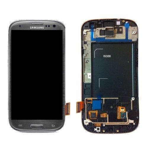 Samsung Galaxy S3 GT-i9300 GH97-13630F LCD-Display (inkl. Touchscreen und Rahmen), Titanium Grey