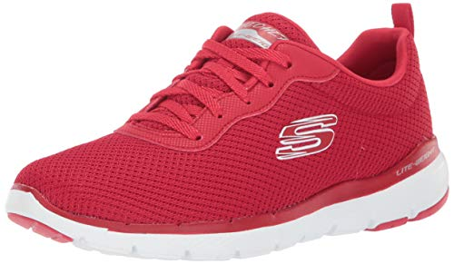 Skechers Flex Appeal 3.0-First Insight Damen-Turnschuh, Rot (rot), 40 EU