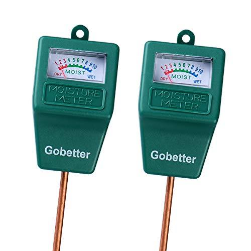 Gobetter Soil Moisture Meter, 2 Pack Plant Water Meter Indoor & Outdoor, Sensor...