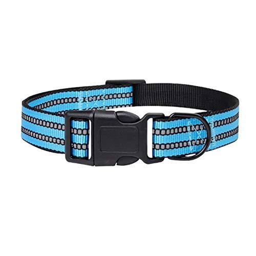 ASDFGT-778 5 Farben Mode Reflektierende Streifen Halsbänder 65 * 2,5 cm Einstellbare Nylon Schnalle Legierung Pet Kragen Medium/Große Hunde Durable Supplies (Color : Style 4, Size : 40 60cm)