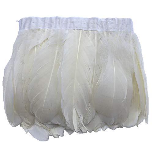 Sowder Duck Goose Feather Trim Fringe 2 Yards (Ivory)