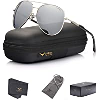 Luenx Mens Aviator Sunglasses