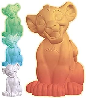 Lexibook NLJ105AN The Lion King Simba Multicolour Nightlight, Disney Colour Night Light for Kids Room with Timer
